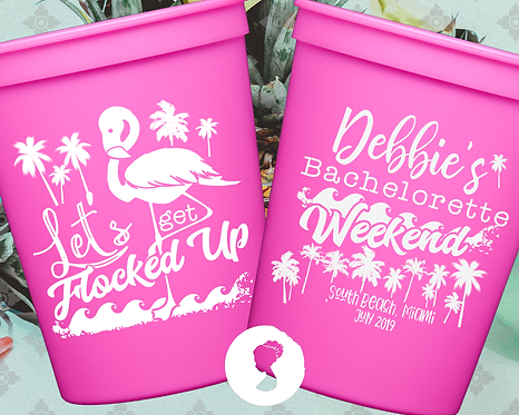 Let's Get Flocked Up Bachelorette Party Weekend Stadium Cup