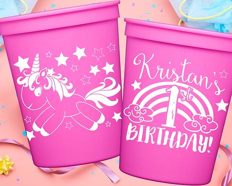 Unicorn Birthday Cup