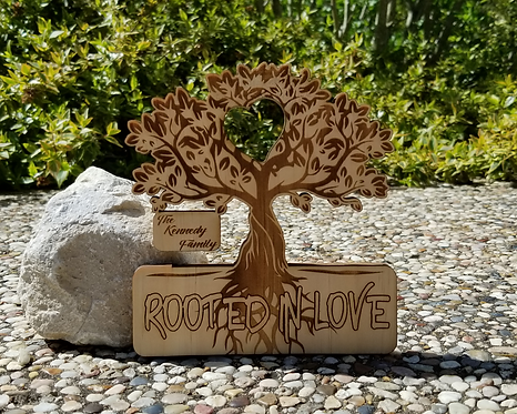 Rooted In Love Personalized Family Plaque