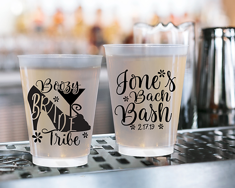 Boozy Bride Tribe Bachelorette Frosted Cups