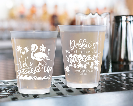 Let's Get Flocked Up Bachelorette Weekend Frosted Cups