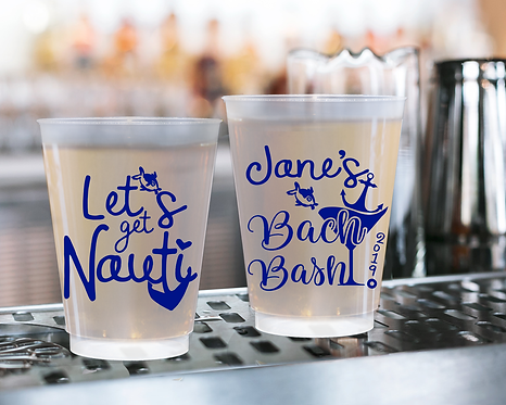 Let's Get Nauti Bachelorette Frosted Cups