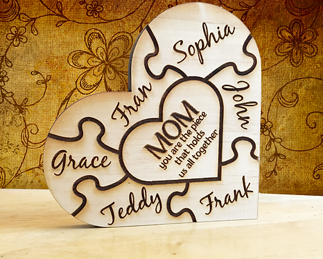 Mom, You Are The Piece That Holds Us All Together Personalized Plaque