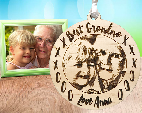 Best Grandma Picture Engraved Ornament