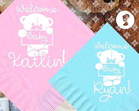 Welcome Baby Napkins