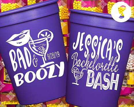 Bad and Boozy Bachelorette Party Cup
