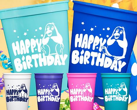Penguin Birthday Cup