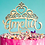 Thumbnail: Personalized Princess Crown Birthday Wood Cake Topper