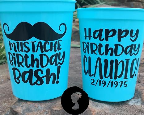 Mustache Birthday Bash Birthday Cup