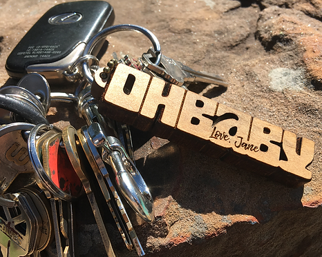 OH BABY Personalized Engraved Key Chain