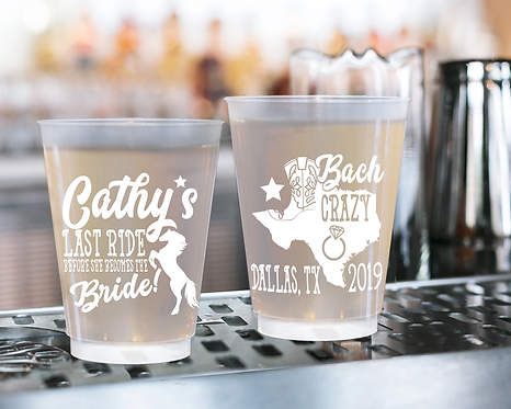 Last Ride Before She Becomes a Bride Bachelorette Frosted Cups