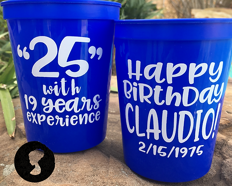 25 with _ Years Experience Birthday Cup