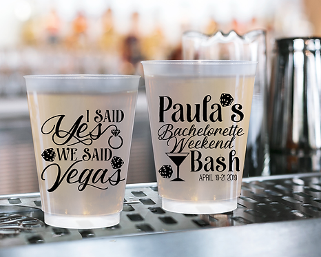I said Yes We Said Vegas Bachelorette Weekend Frosted Cups