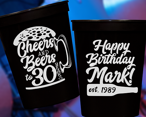Cheers and Beers Birthday Cup