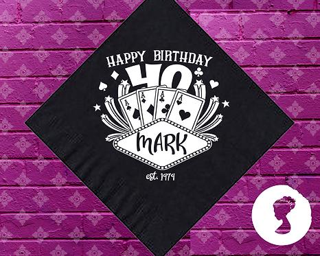 Birthday Poker Personalized Napkins