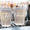 Thumbnail: Monogram Cheers Frosted Wedding Cups