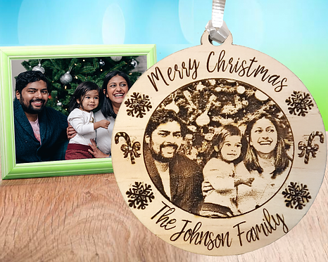 Family Picture Engraved Ornament
