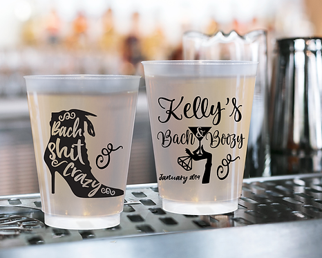 Bach Shit Crazy Bachelorette Frosted Cups