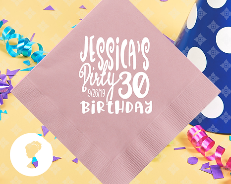 Dirty 30 Birthday Personalized Napkins