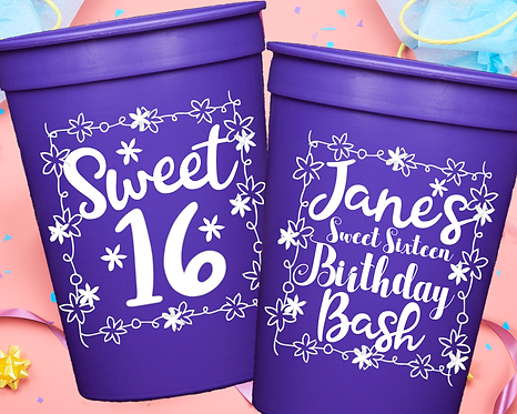 Sweet Sixteen Birthday Cup