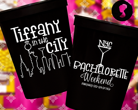 New York Bachelorette Party Weekend Stadium Cup