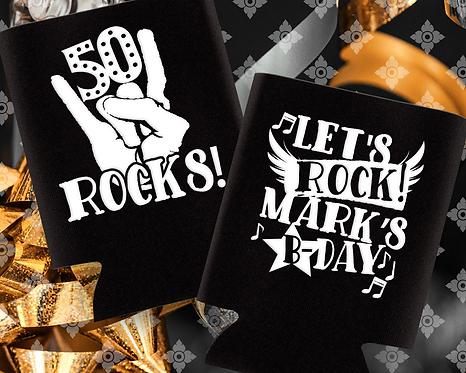 50 Rocks Birthday Can Cooler