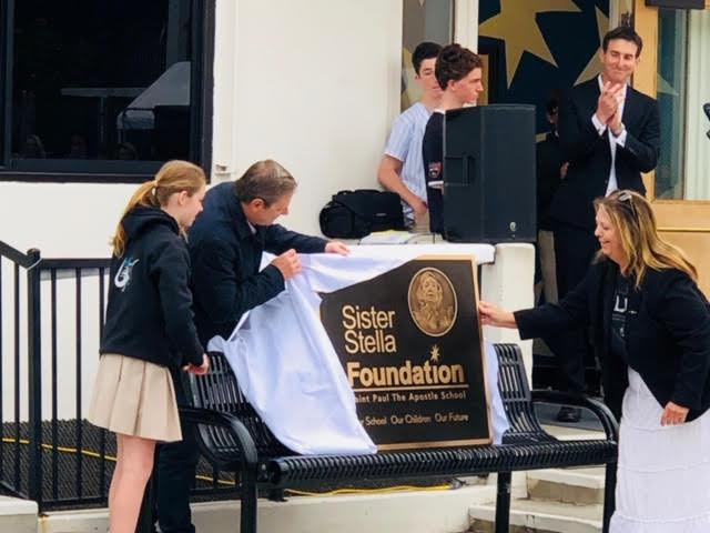 Unveiling the plaque
