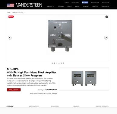 Vandersteen M5 HPA