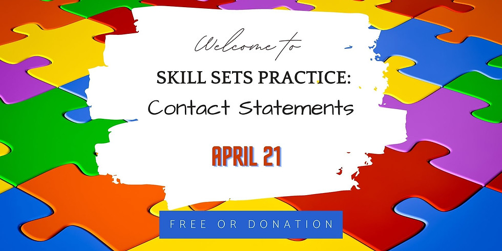 Skill sets practice: Contact Statements