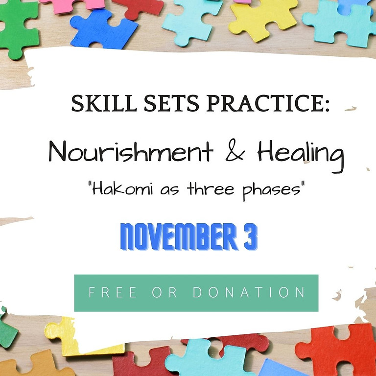 Skill sets practice: Nourishment & Healing (Phase 3)
