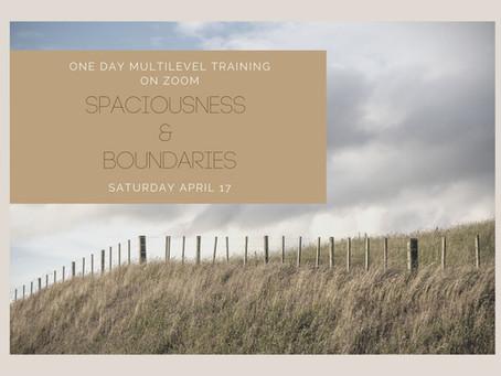 Velkommen til: Spaciousness & Boundaries- 1 day multilevel training