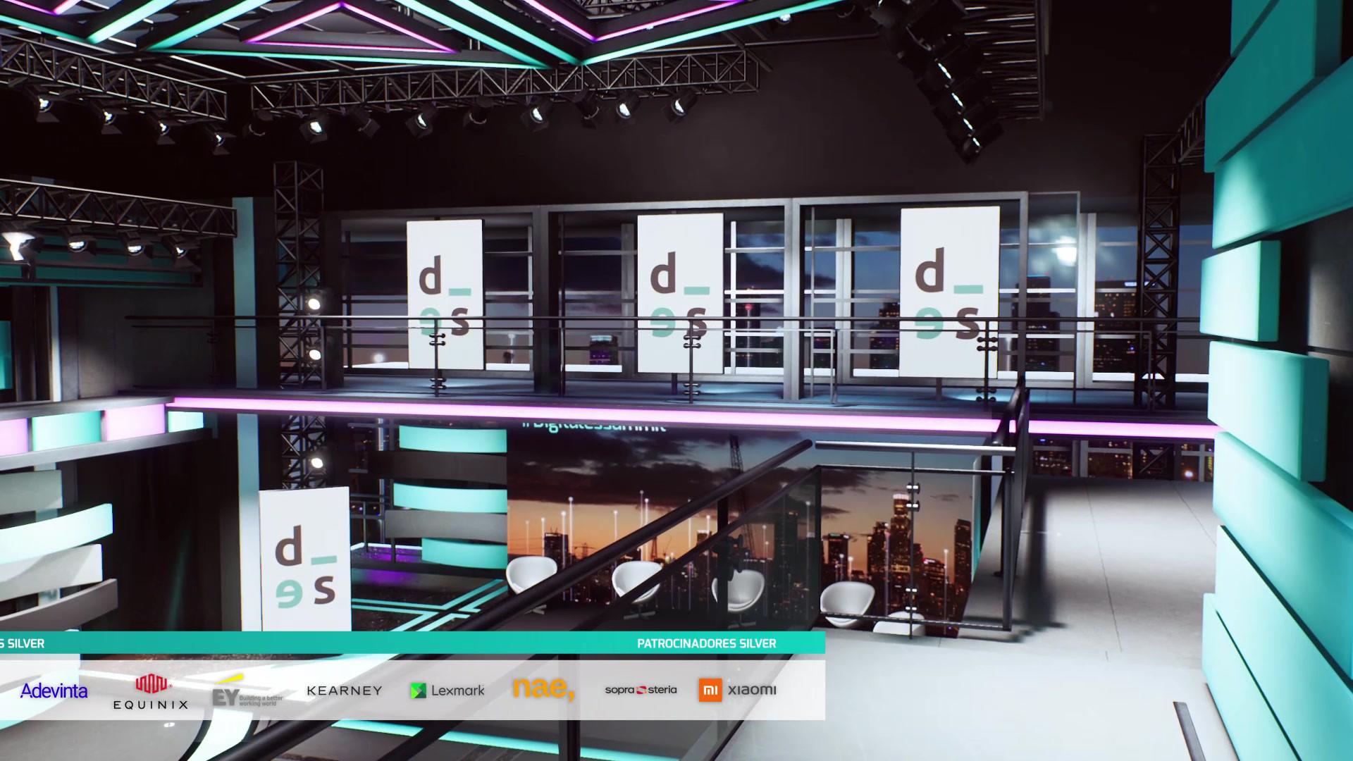 DIGITALES SUMMIT 2020  Chroma set 3D scenography.