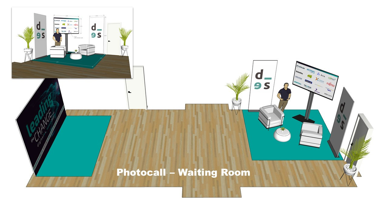 Photocall and waiting room scheme