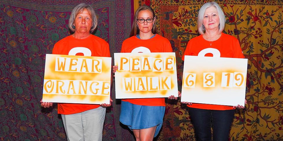 WEAR ORANGE PEACE WALK