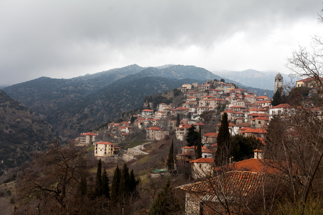 Dimitsana, Arcadia, Peloponnese, Greece, February 2019