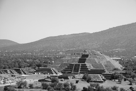 Pyramids of Teohotihuacan. Federal District of Mexico, Mexico, March 2015