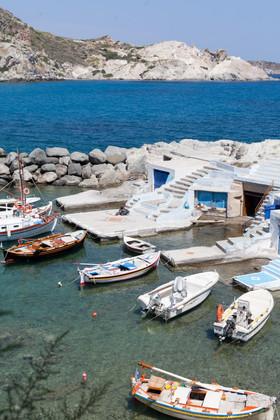 Mini port of Mandrakia, Milos, Cyclades, Greece, June 2019