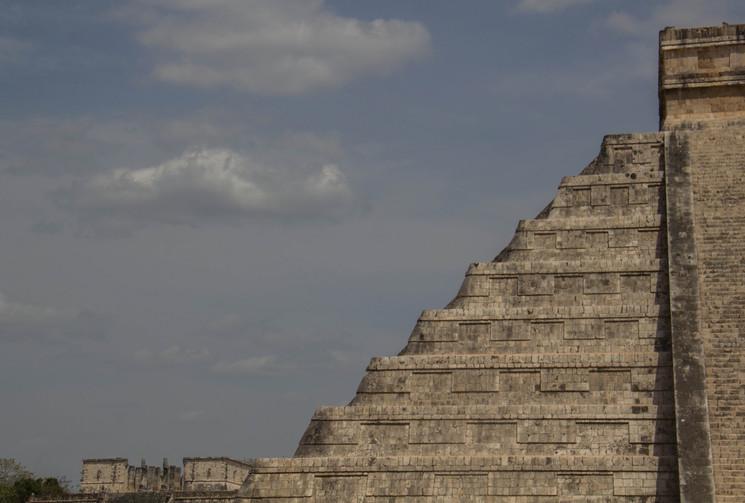 L'impressionnante pyramide de Chitchen Itza, Yucatan, Mexico, April 2015
