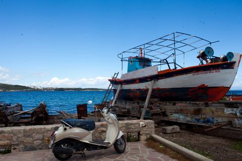 Pollonia, Milos, Cyclades, Greece, June 2019