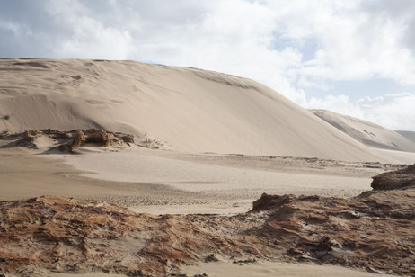Giant Te Paki sand dunes, North Island, New Zealand, May 2017