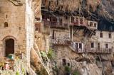 Village built in rocks, Stemnitsa, Arcadia, Peloponnese, Greece, February 2019