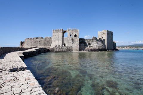 Methoni Castle, Messinia, Peloponnese, Greece, April 2019