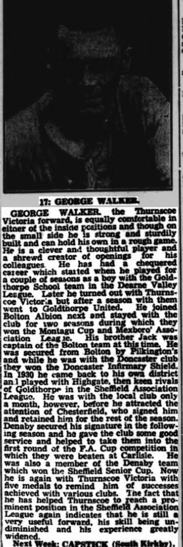 George Walker played in 1929 final for B