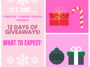 12 Days of Giveaways! What to Expect: