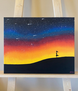 "Girl & the Galaxy - 16""x20"""