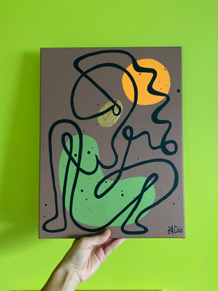 """Sunkissed Line Lady - 12""""x16"""""""