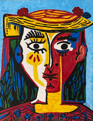 Picasso's Lady with Hat