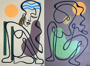"Earth Line Lady Series - 24""x36"""