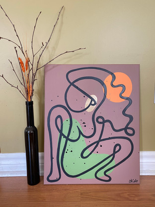 """Sunkissed Line Lady - 16""""x20"""""""