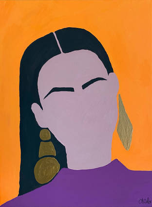Lady with Gold Earrings